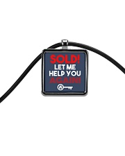 Realtor Sold Let Me Help You Again Cord Rectangle Necklace thumbnail