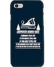 Carpenter Hourly Rates Phone Case thumbnail