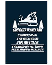 Carpenter Hourly Rates 11x17 Poster thumbnail