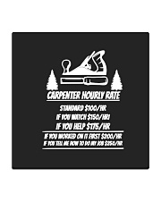 Carpenter Hourly Rates Square Coaster thumbnail