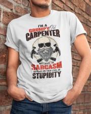 I Am A Grumpy Old Carpenter Classic T-Shirt apparel-classic-tshirt-lifestyle-26