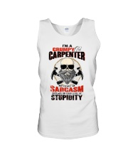 I Am A Grumpy Old Carpenter Unisex Tank thumbnail