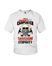 I Am A Grumpy Old Carpenter Youth T-Shirt thumbnail