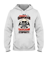 I Am A Grumpy Old Carpenter Hooded Sweatshirt thumbnail