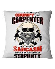 I Am A Grumpy Old Carpenter Square Pillowcase thumbnail