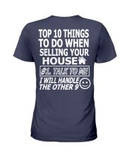 Top Ten Things To Do Of Real Estate Agent Ladies T-Shirt back