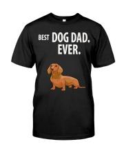Dachshund Best Dachshund Dad Ever Classic T-Shirt front