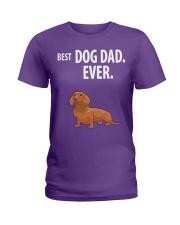 Dachshund Best Dachshund Dad Ever Ladies T-Shirt thumbnail
