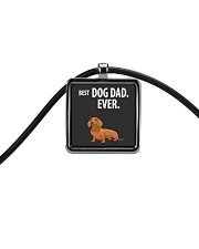 Dachshund Best Dachshund Dad Ever Cord Rectangle Necklace thumbnail