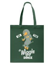 Funny Dachshund Do The Wiggle Dance Tote Bag thumbnail