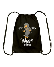 Funny Dachshund Do The Wiggle Dance Drawstring Bag thumbnail
