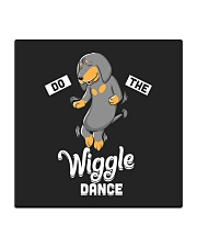 Funny Dachshund Do The Wiggle Dance Square Coaster thumbnail