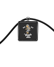 Funny Dachshund Do The Wiggle Dance Cord Rectangle Necklace thumbnail
