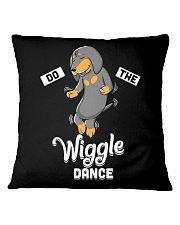 Funny Dachshund Do The Wiggle Dance Square Pillowcase thumbnail