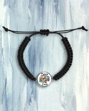 Hippie Peace Love Cord Circle Bracelet aos-bracelet-cord-front-lifestyle-6