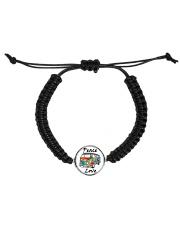 Hippie Peace Love Cord Circle Bracelet front