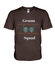 Groom Squad Wedding Party Cool T-shirt tshirts V-Neck T-Shirt front