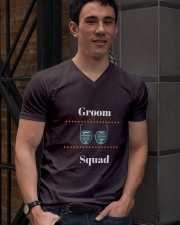 Groom Squad Wedding Party Cool T-shirt tshirts V-Neck T-Shirt lifestyle-mens-vneck-front-2