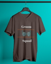 Groom Squad Wedding Party Cool T-shirt tshirts V-Neck T-Shirt lifestyle-mens-vneck-front-3
