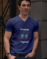 Groom Squad Wedding Party Cool T-shirt tshirts V-Neck T-Shirt lifestyle-mens-vneck-front-2