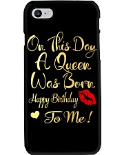 On This Day A Queen Was Born Happy Birthday To Me Phone Case thumbnail