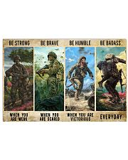 Veterans Be strong be brave be humble 17x11 Poster front