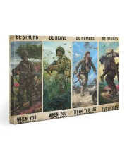 Veterans Be strong be brave be humble Gallery Wrapped Canvas Prints tile