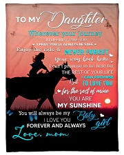 """To My Daughter A Horse Girl Small Fleece Blanket - 30"""" x 40"""" front"""