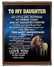 "Mom To My Daughter A Horse Girl Small Fleece Blanket - 30"" x 40"" front"