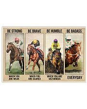 Be strong be brave be humble Horseracing 17x11 Poster front