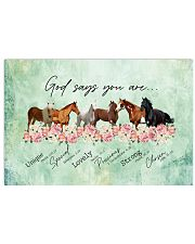 God says you are Horses 17x11 Poster front