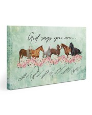God says you are Horses 30x20 Gallery Wrapped Canvas Prints thumbnail