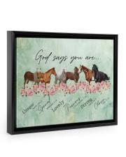 God says you are Horses 14x11 Black Floating Framed Canvas Prints thumbnail