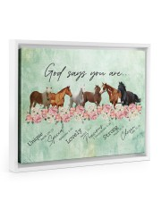 God says you are Horses 14x11 White Floating Framed Canvas Prints thumbnail