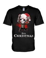 It's Christmas Friday the 13th V-Neck T-Shirt thumbnail