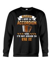 WARNING I HAVE AN ACCORDION Crewneck Sweatshirt thumbnail