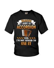 WARNING I HAVE AN ACCORDION Youth T-Shirt thumbnail