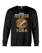 OLD MAN VINTAGE TUBA Crewneck Sweatshirt tile