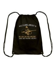 ALL I CARE BLUEGRASS Drawstring Bag thumbnail