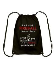 DRINK FIREBALL EVERYWHERE Drawstring Bag thumbnail