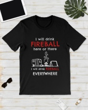 DRINK FIREBALL EVERYWHERE Classic T-Shirt lifestyle-mens-crewneck-front-17