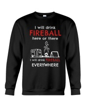 DRINK FIREBALL EVERYWHERE Crewneck Sweatshirt thumbnail