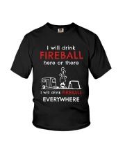 DRINK FIREBALL EVERYWHERE Youth T-Shirt thumbnail