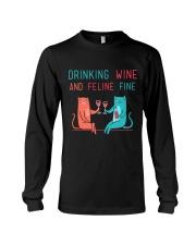 DRINK WINE FELINE FINE Long Sleeve Tee thumbnail