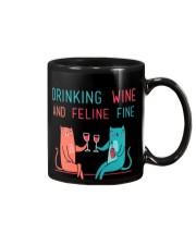 DRINK WINE FELINE FINE Mug thumbnail
