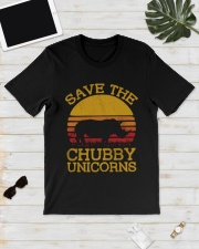 SAVE CHUBBY UNICORNS Classic T-Shirt lifestyle-mens-crewneck-front-17