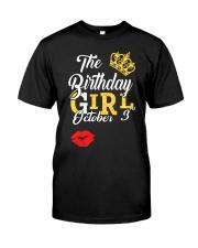 OCTOBER BIRTHDAY GIRL Classic T-Shirt front