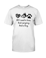 CAMPING DOG Classic T-Shirt front