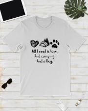 CAMPING DOG Classic T-Shirt lifestyle-mens-crewneck-front-17
