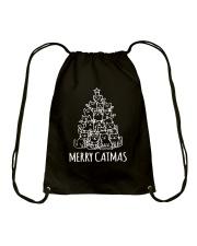 MERRY CATMAS Drawstring Bag thumbnail